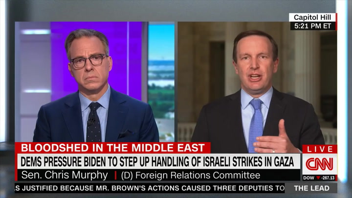 Dem Sen. Murphy on 'Apartheid' Rhetoric: Dems Are 'More Willing' to Criticize Israel Because Israel's 'Position Has Changed'