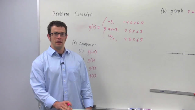 Domain Restrictions and Functions Defined Piecewise - Problem 2