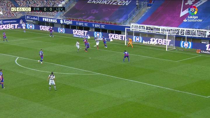 Gol de De Frutos (0-1) en el Eibar 0-1 Levante