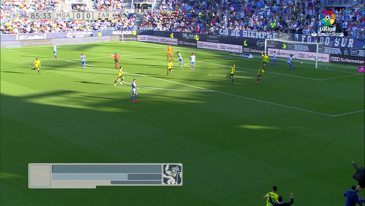 Gol de Luis Suárez (0-1) en el Málaga 0-1 Zaragoza