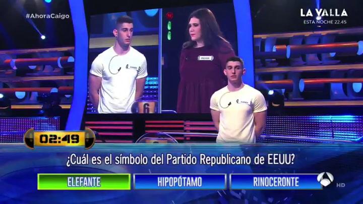 """El concursante más honesto de 'Ahora Caigo': """"Las estoy acertando todas de chorra"""""""