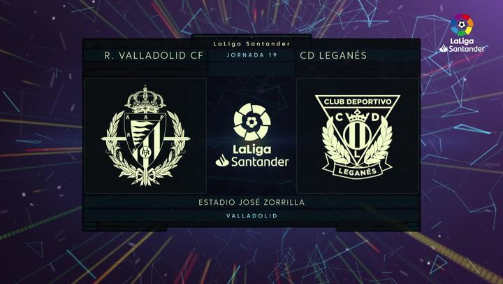 LaLiga (J19): Resumen y goles del Valladolid 2-2 Leganés