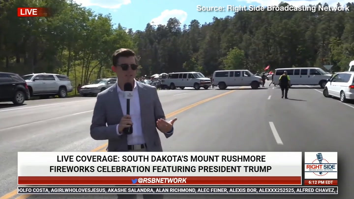 Protesters Slash Tires, Block Road Leading to Mount Rushmore Independence Day Celebration