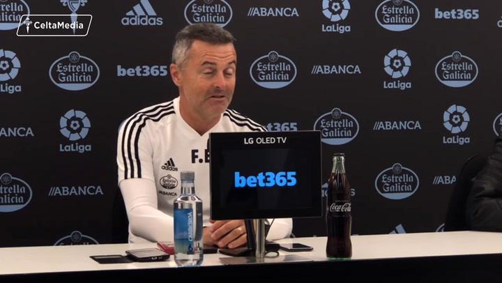 La rueda de prensa de Fran Escribá (Celta), previa del partido ante el Betis