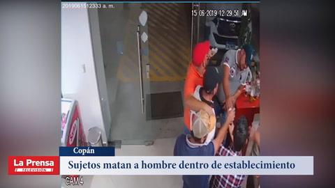 Sujetos matan a hombre dentro de establecimiento en Copán