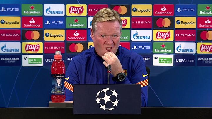 Rueda de prensa de Ronald de Koeman previa a su primer partido de Champions como entrenador del Barça