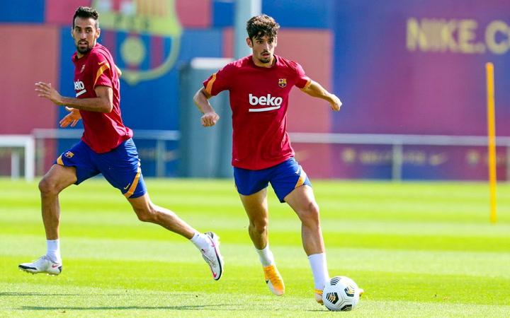 Entrenamiento del FC Barcelona, el 15 de septiembre de 2020