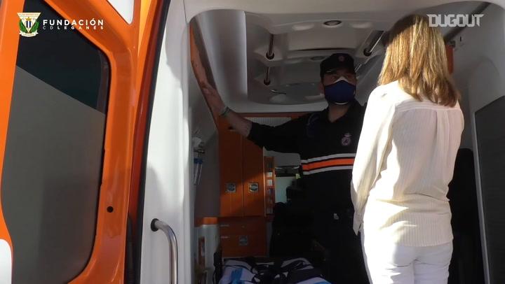 CD Leganés Foundation donates an ambulance