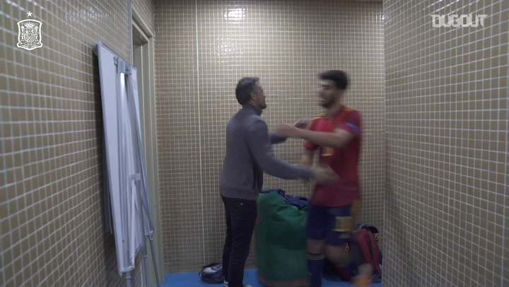 Behind the scenes: Spain's celebrations after 6-0 win vs Germany