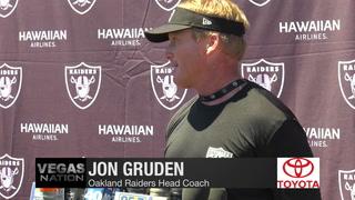 Vegas Nation: Gruden hopes Khalil Mack comes back to team soon