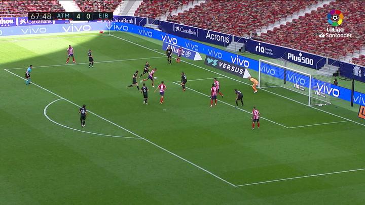 Gol de Marcos Llorente (5-0) en el Atlético 5-0 Eibar