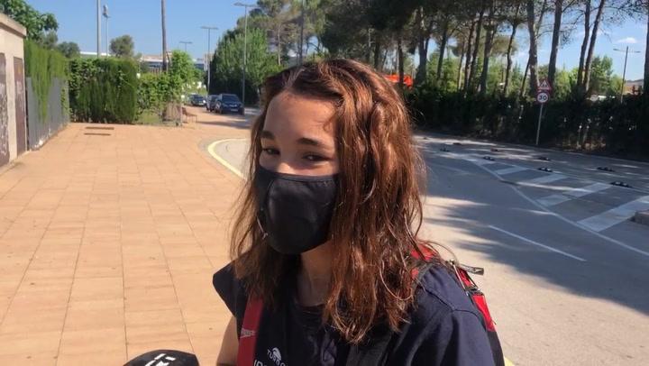 La nadadora África Zamorano explica cómo ha sido el regreso al CAR de Sant Cugat