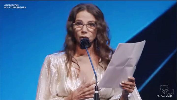 Victoria Abril pide disculpas en los Premios Feroz