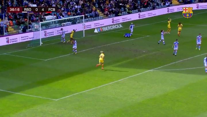 Final de la Supercopa Femenina de fútbol: Gol de Caroline Hansen (0-5)