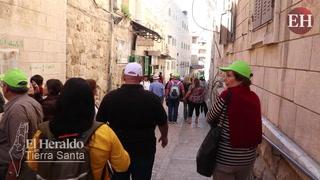 EL HERALDO en las calles de Jerusalén donde se marcó la Vía Dolorosa