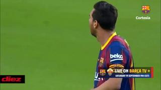 En el manual era golazo:  Espectacular volada de Édgar Badía para detener tiro libre de Lionel Messi