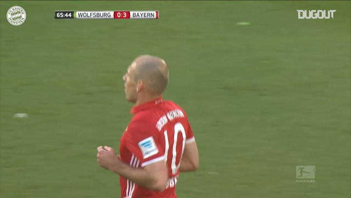 Robben scores in 6-0 win vs Wolfsburg