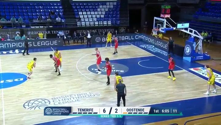 El resumen del Iberostar Tenerife - Oostende de la Liga de Campeones FIBA