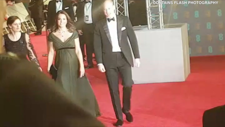 The Duke and Duchess of Cambridge arrive at the Baftas