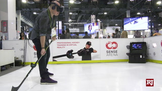 CES 2019: VR Hockey Trainer Sense Arena – VIDEO