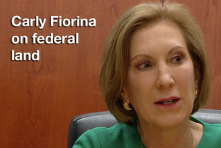 Carly Fiorina on federal land