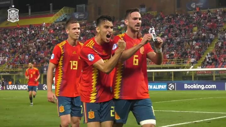 El jugador del Nápoles, Fabián Ruiz, también despunta en la selección