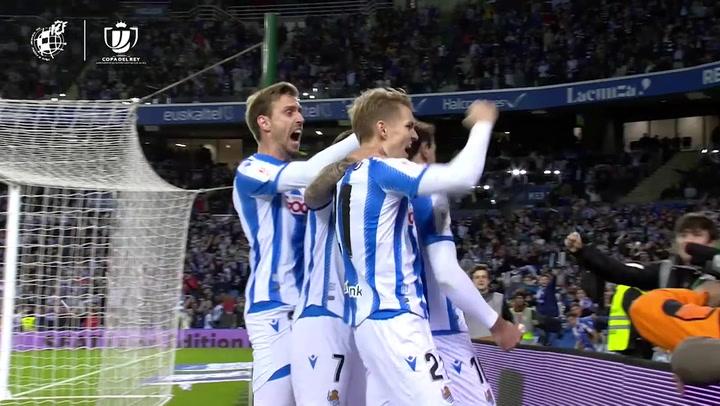Copa del Rey: Real Sociedad-Mirandés. Gol de Oyarzabal 1-0