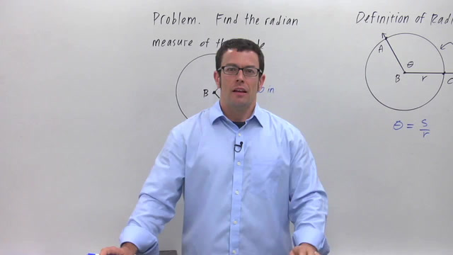 Radian Measure of Angles - Problem 1