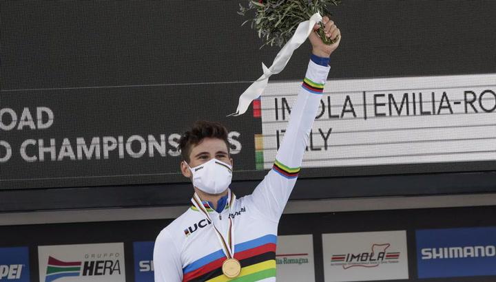 El italiano Ganna, nuevo campeón mundial contrarreloj
