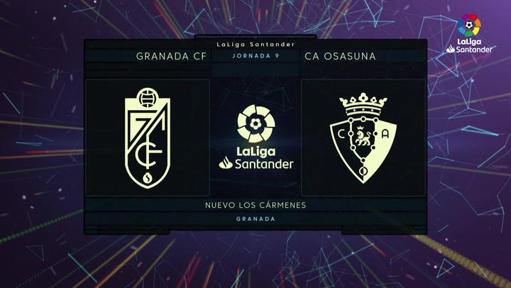 Resumen LaLiga (J9): Resumen y gol del Granada 1-0 Osasuna