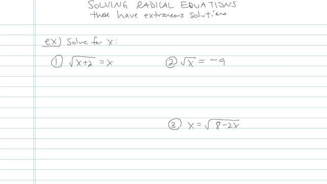 Solving Radical Equations - Problem 12