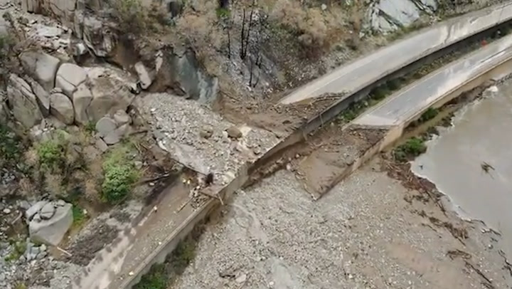 Massive mudslides close interstate indefinitely