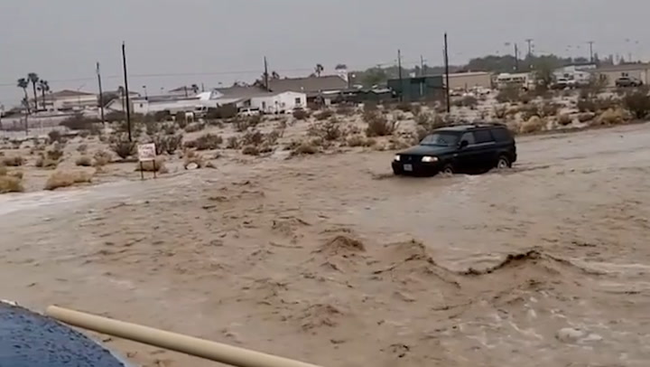 Intense flooding turns roads into rivers in southern Nevada
