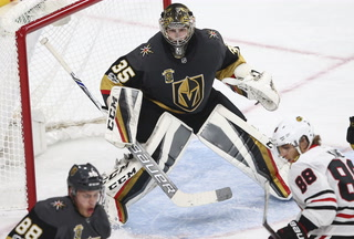 Golden Edge: Dansk, Golden Knights get surprise win over Blackhawks