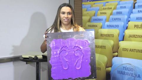 Marta, primera mujer en Calzada de la Fama del Maracaná