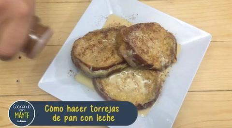 Cómo hacer torrejas de pan con leche