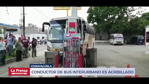 Conductor de bus interurbano es acribillado en Comayagüela