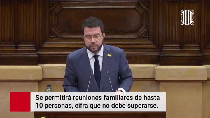 Medidas del Govern de Catalunya para contener el Covid 19 en Navidad