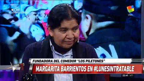 Margarita Barrientos: Hoy está blanqueada la pobreza, antes se tapaba