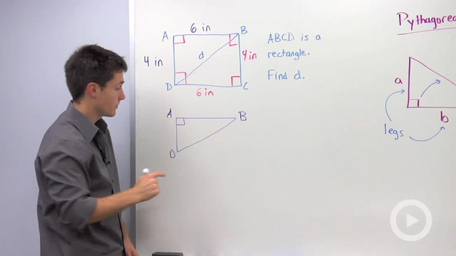 Using the Pythagorean Theorem to find a Missing Hypotenuse - Problem 2