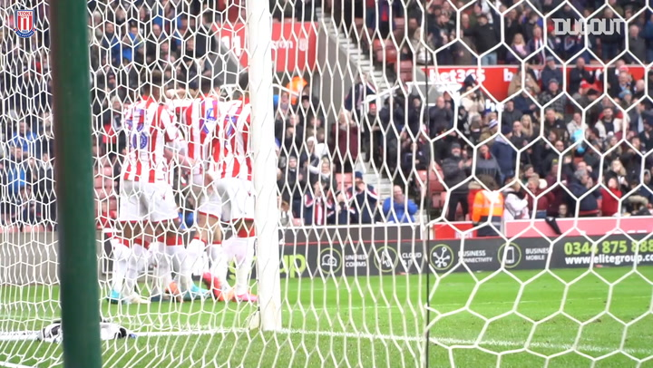 Stoke score two second-half goals against Hull