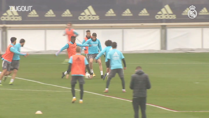 Possession, pressing and finishing during Real Madrid training