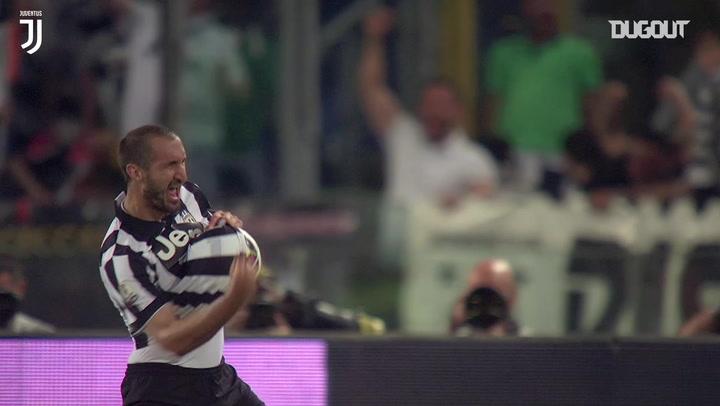 Giorgio Chiellini's Coppa Italia final goal vs Lazio