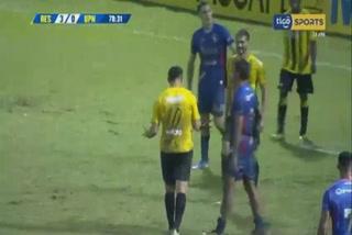 Jhow Benavídez anota el 4 - 0 de Real España ante UPN