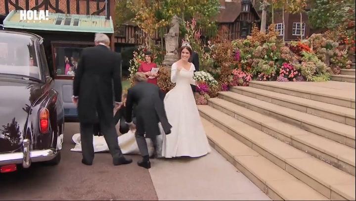Princess Eugenie arrives to marry Jack Brooksbank