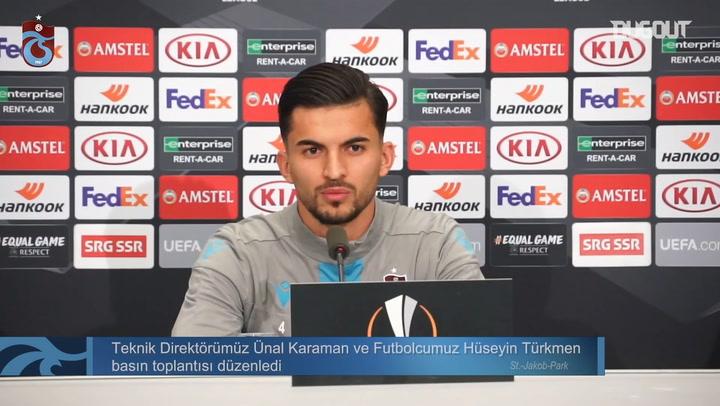Hüseyin Türkmen Basel Maçı Öncesi Basın Toplantısı