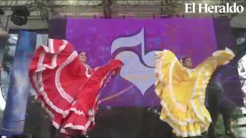 Ballet Folklórico de Honduras Oro Lenca se luce en la Teletón