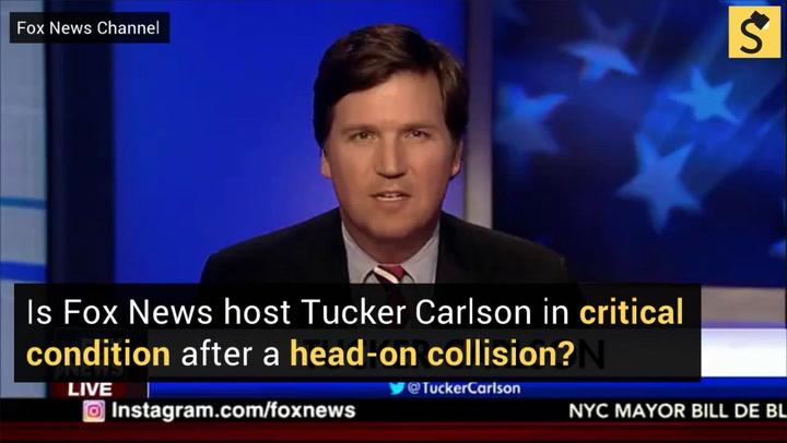 Tucker Carlson Car Crash Fake News