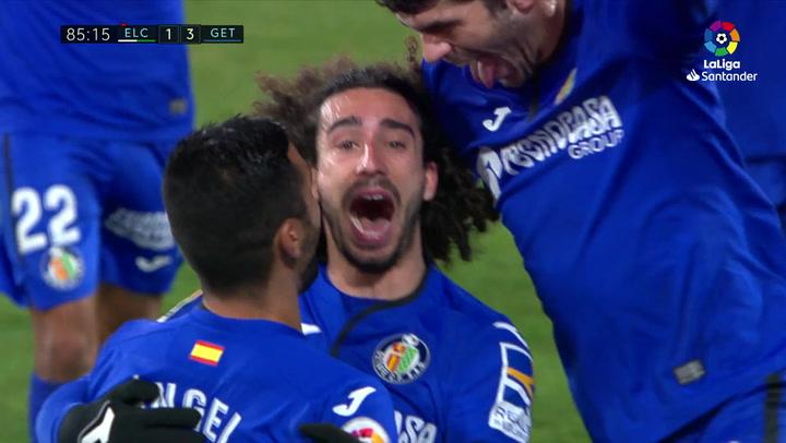 Gol de Ángel (1-3) en el Elche 1-3 Getafe