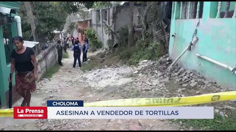 Asesinan a vendedor de tortillas en Choloma